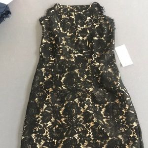 NEVER WORN BEFORE black lace formal dress